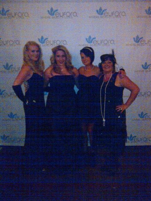 The roaring 20's Gala night in LA Team photo